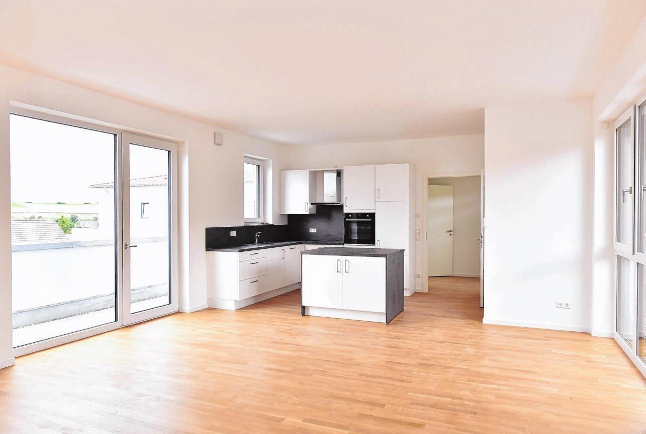 Hell und freundlich, mit einer sehr hochwertigen Ausstattung bieten die 23 Wohnungen der DonauResidenz in Nasgenstadt einen wertvollen Lebensmittelpunkt für die Mieter.