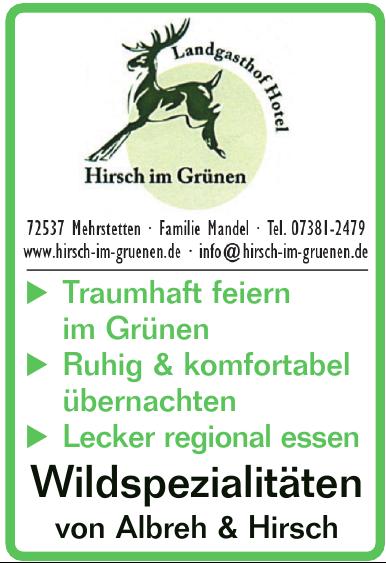 Hirsch im Grünen