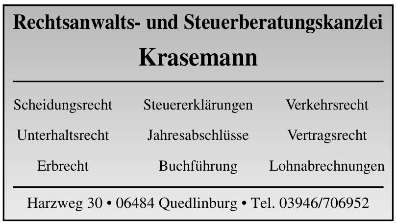 Rechtsanwalts- und Steuerberatungskanzlei Krasemann