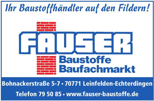 Fauser - Baustoffe, Baufachmarkt