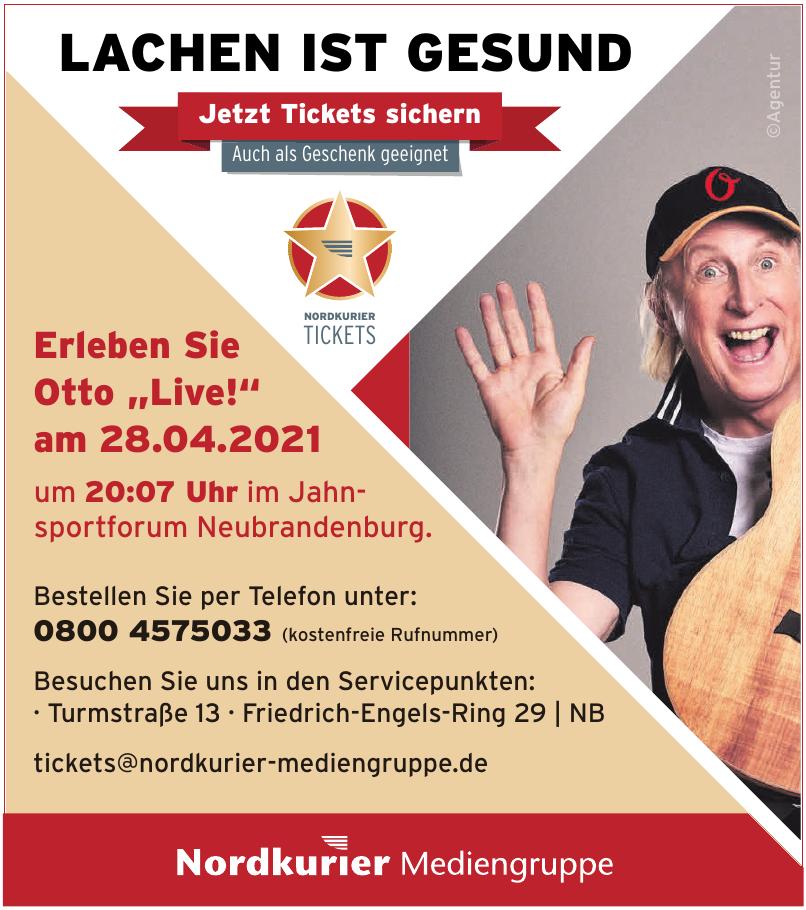 Tickets Nordkurier Mediengruppe