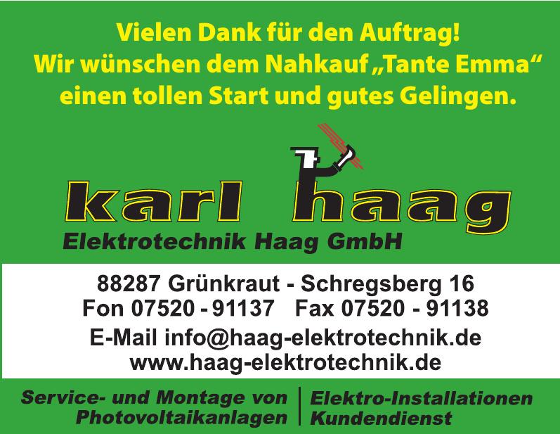 Karl Haag  - Elektrotechnik Haag GmbH