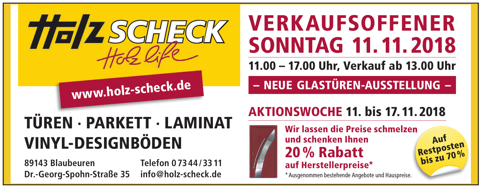 Holz Scheck