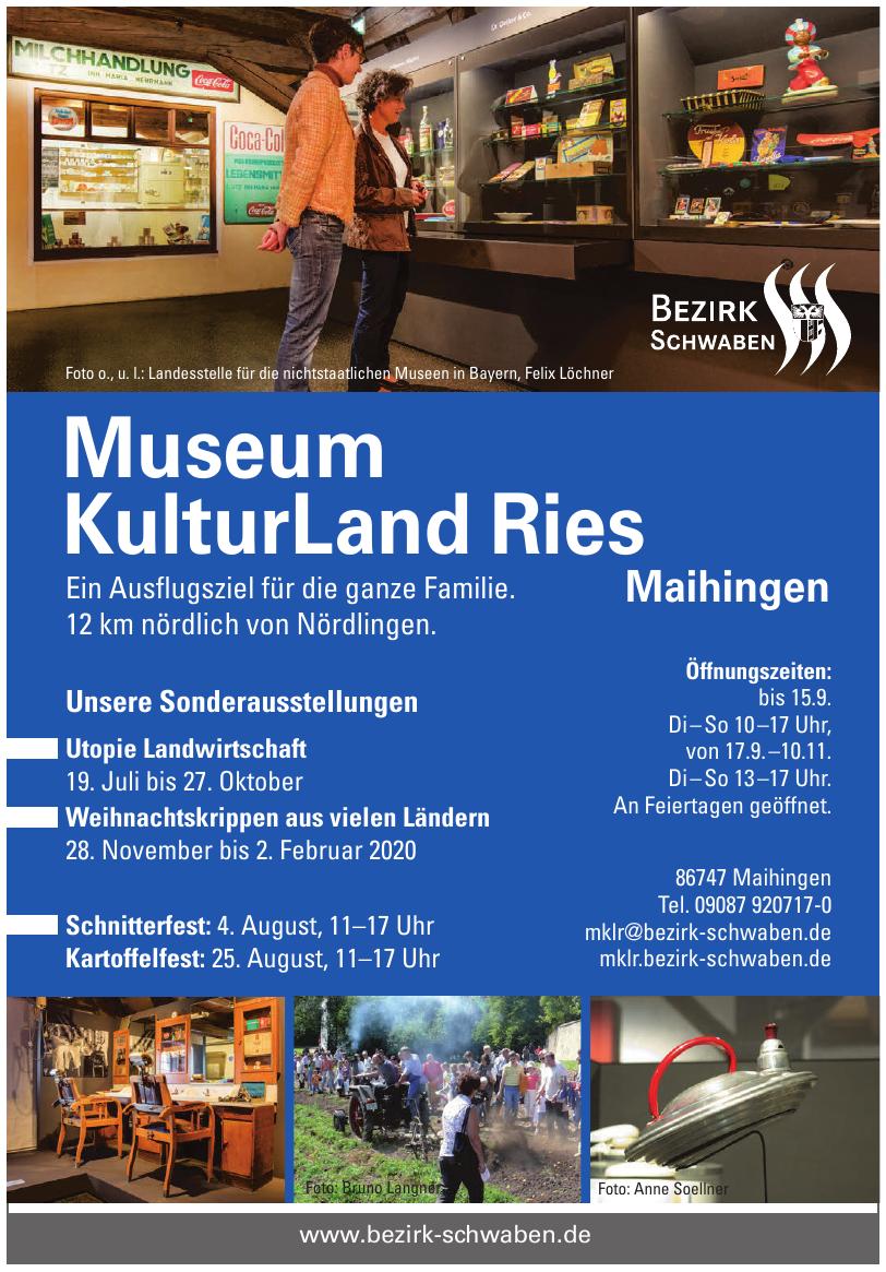 Bezirk Schwaben - Museum KulturLand Ries