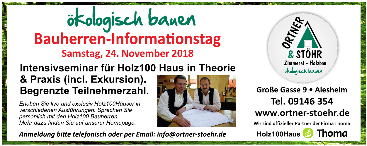 Ortner & Stöhr Zimmerei - Holzbau