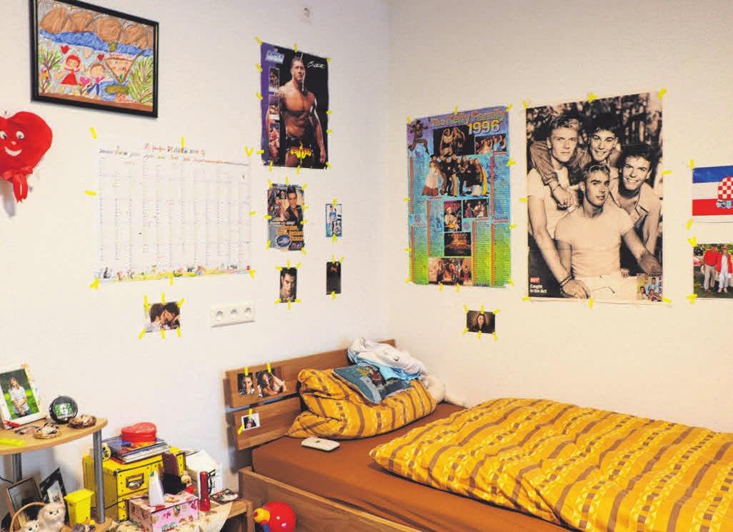 Die Klienten können ihre Zimmer nach ihren eigenen Vorstellungen gestalten.