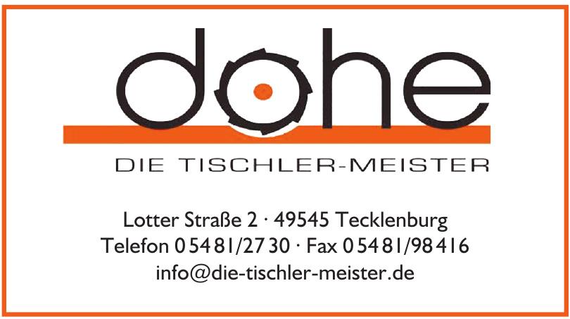 Dohe - Die Tischler-Meister