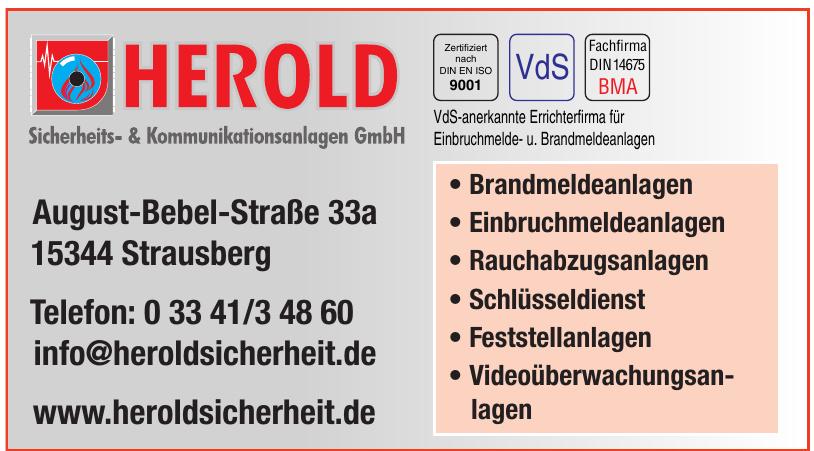 Herold, Sicherheits- & Kommunikationsanlagen GmbH