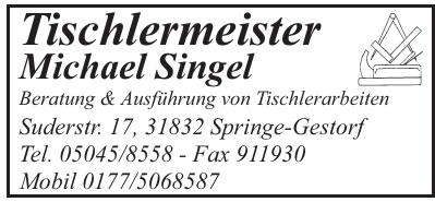 Tischlermeister Michael Singel