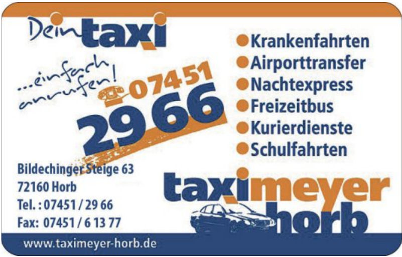 Taxi Meyer Horb