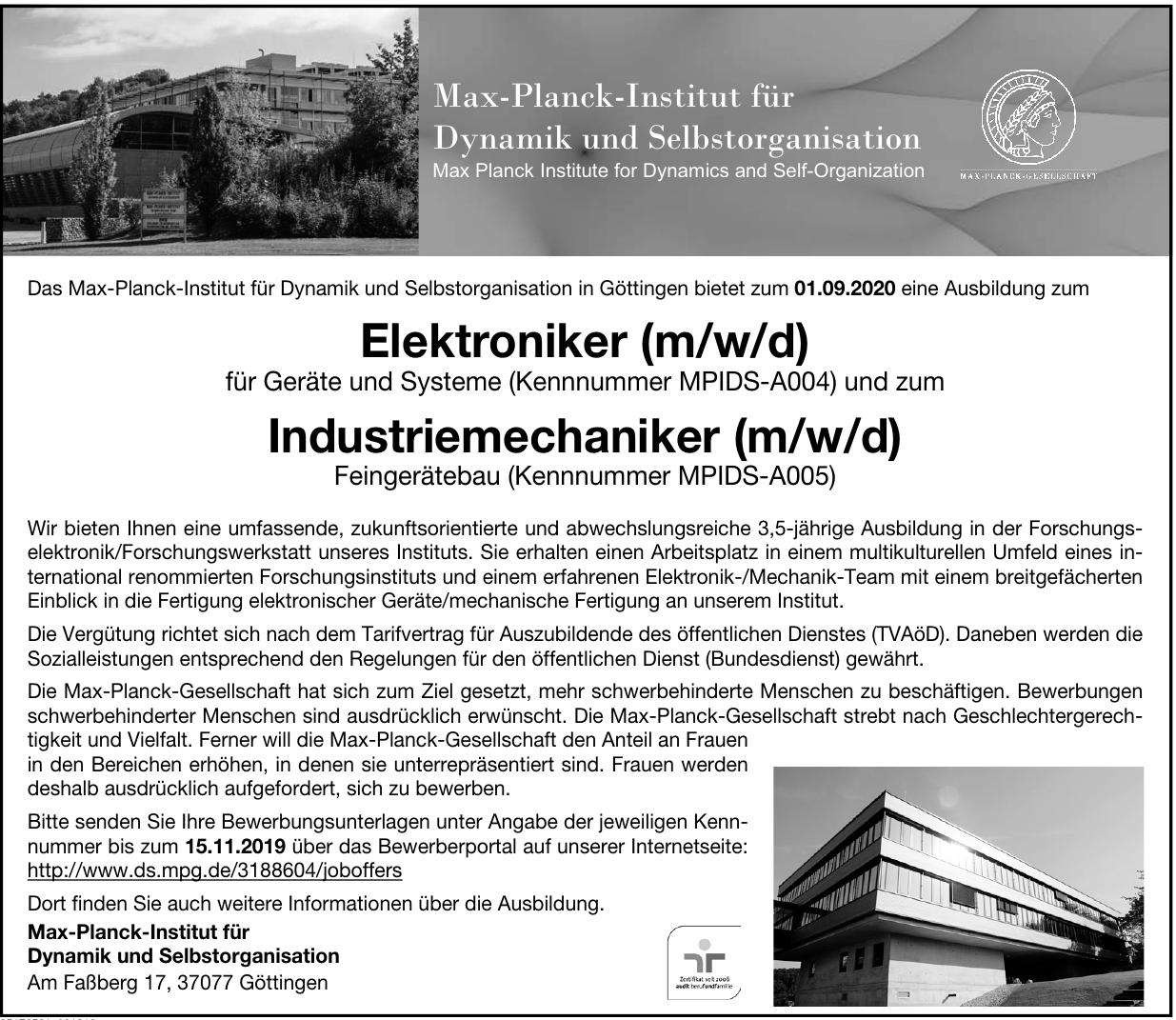 Max-Planck-Institut für Dynamik und Selbstorganisation