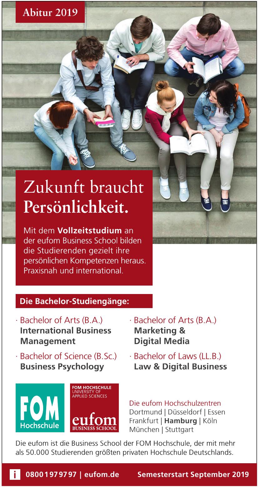 eufom – die Business School der FOM Hochschule