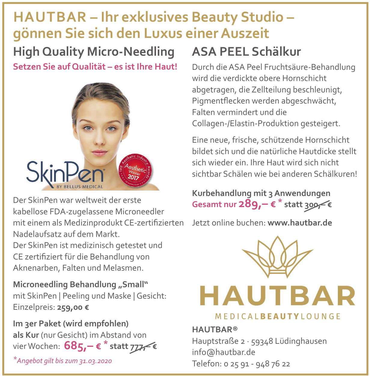 Hautbar Medical Beauty Lounge