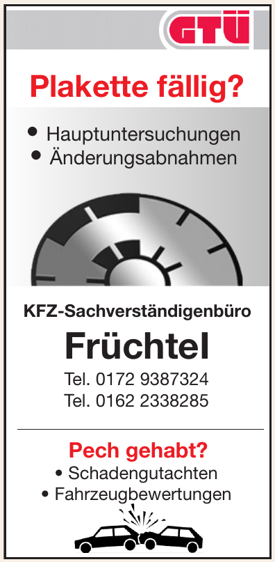 KFZ-Sachverständigenbüro FrüchteI