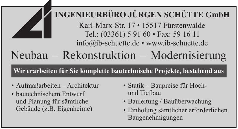 Ingenieurbüro Jürgen Schütte GmbH