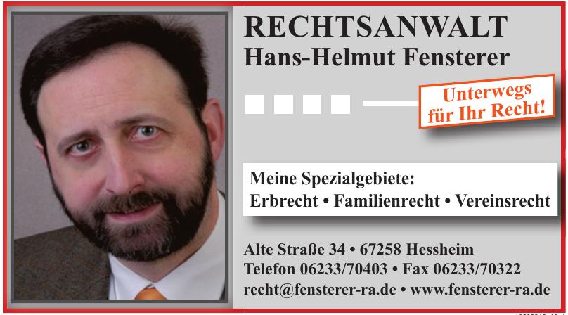 Hans-Helmut Fensterer Rechtsanwalt