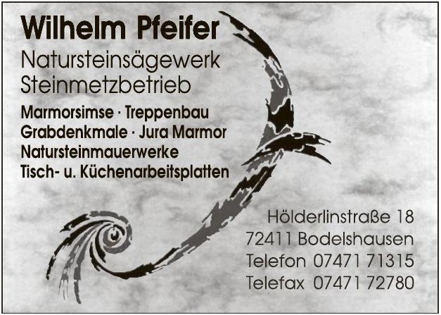 Wilhelm Pfeifer Natursteinsägewerk, Steinmetzbetrieb
