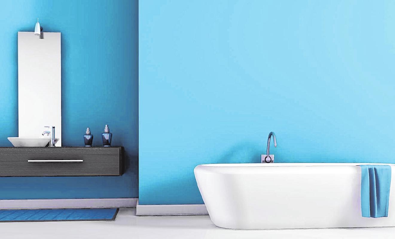 Weiß war gestern: In den neuen Badezimmern ist Farbe im Spiel.