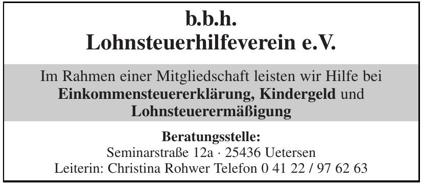 b.b.h. Lohnsteuerhilfeverein e.V.