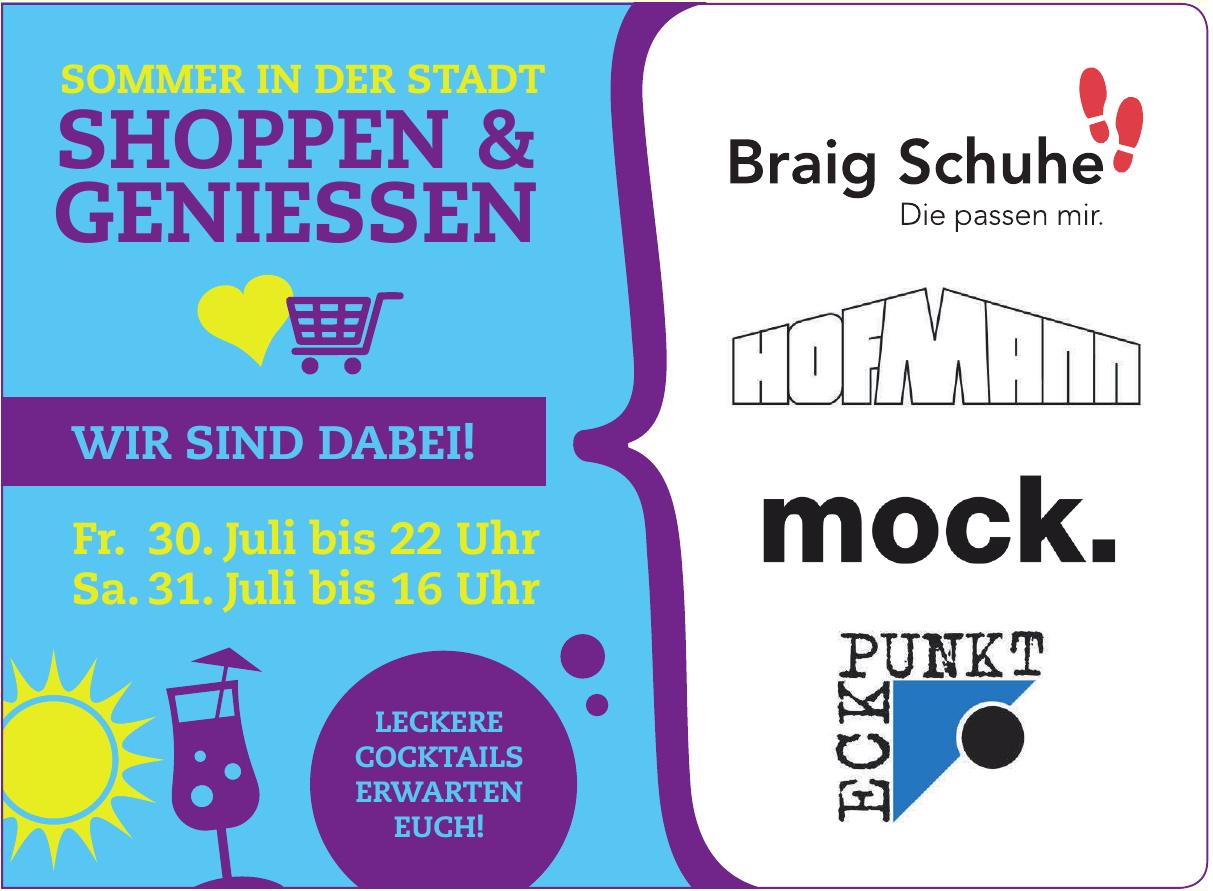 Sommer Shoppen & Geniessen