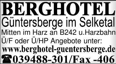Berghotel Güntersberge im Selketal