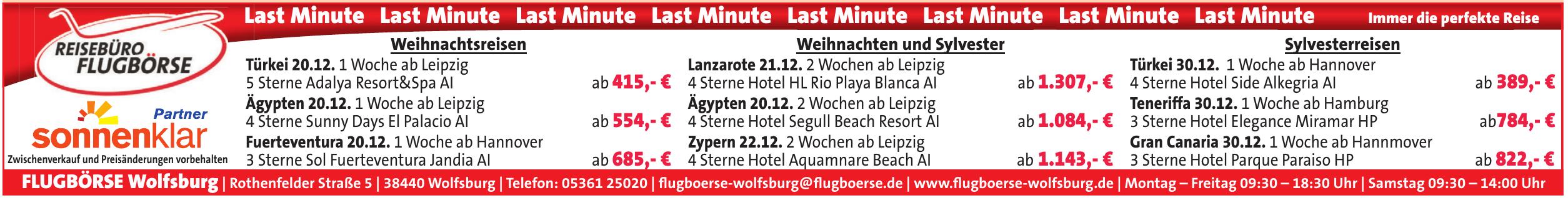 Flugbörse Wolfsburg
