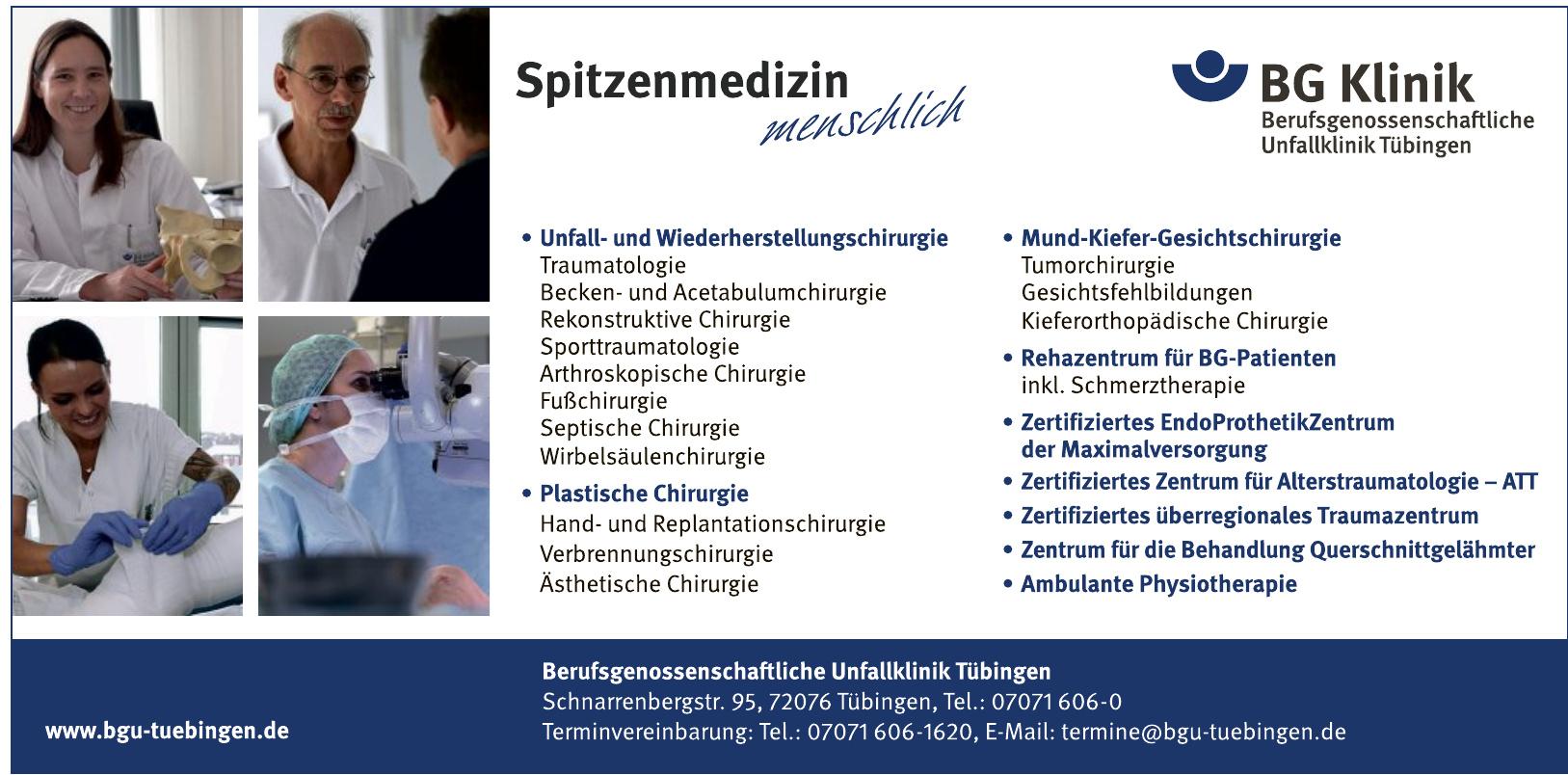 Berufsgenossenschaftliche Unfallklinik Tübingen
