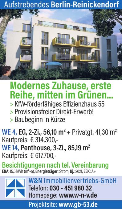 W&N Immobilienvertriebs-GmbH - Aufstrebendes Berlin-Reinickendorf
