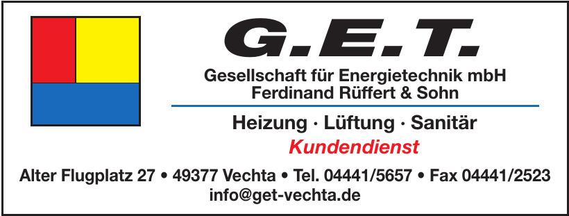 Gesellschaft für Energietechnik mbH Ferdinand Rüffert & Sohn G.E.T.