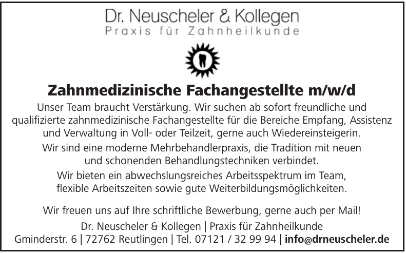 Dr. Neuscheler & Kollegen, Praxis für Zahnheilkunde