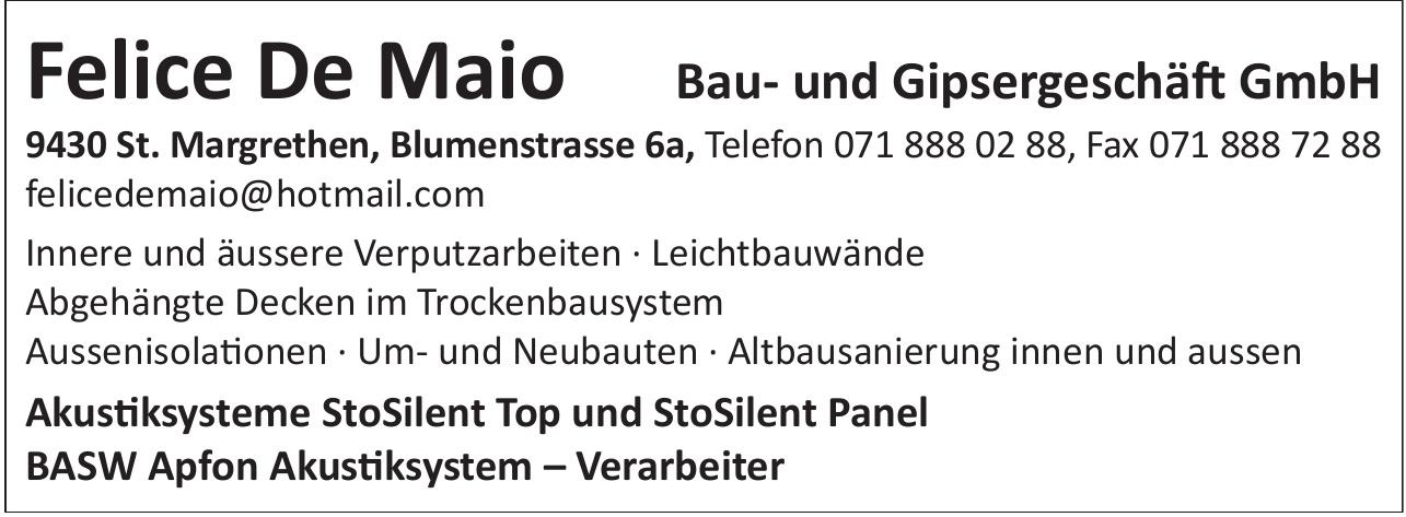 Felice De Maio Bau- und Gipsergeschäft GmbH
