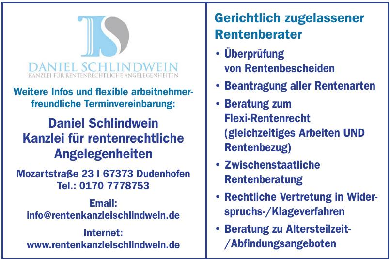 Daniel Schlindwein - Kanzlei für rentenrechtliche Angelegenheiten
