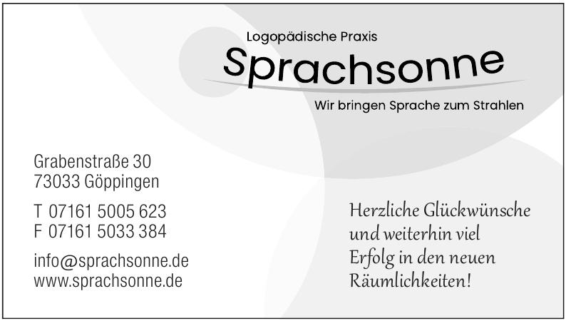 Logopädische Praxis Sprachsonne