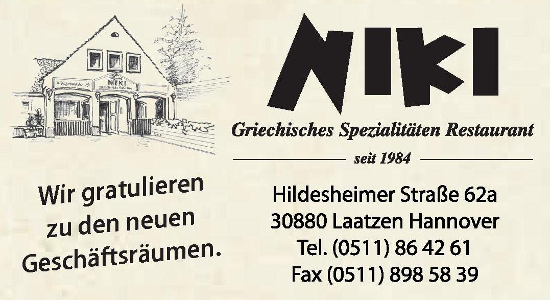 Niki Griechisches Spezialitäten Restaurant