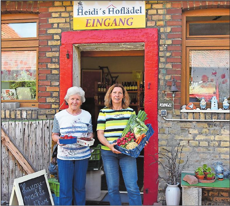"""Seit Anbeginn der """"Straße der Genüsse"""" mit dabei: Heidi Ring-Beutelmann und ihre Mutter Anneliese Jellinek. FOTO: CLEMENS"""