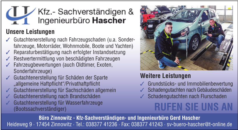Kfz-Sachverständigen- und Ingenieurbüro Gerd Hascher