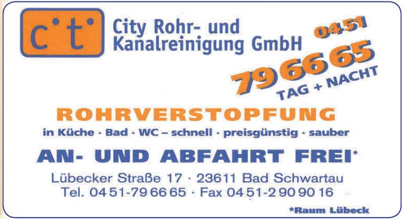 c.t. City Rohr- und Kanalreinigung GmbH