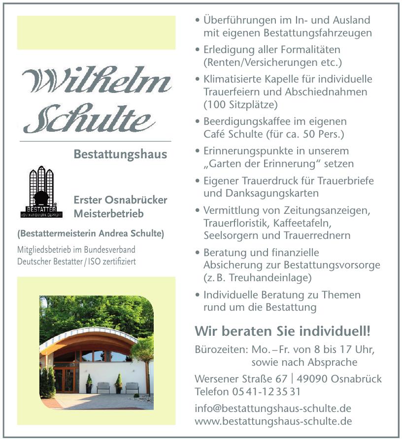 Wilhelm Schulte Bestattungshaus