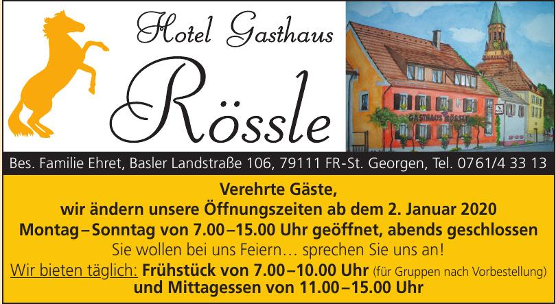 Hotel, Gasthaus Rössle