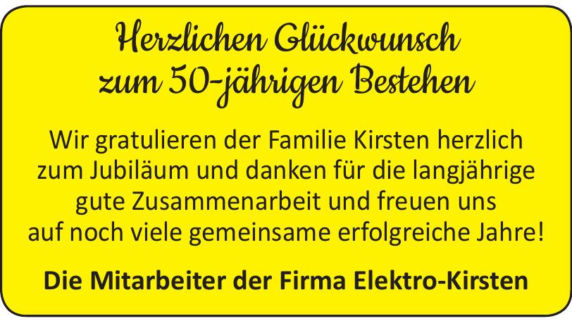 Die Mitarbeiter der Firma Elektro-Kirsten