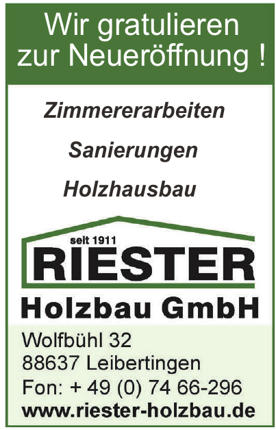 Riester Holzbau GmbH