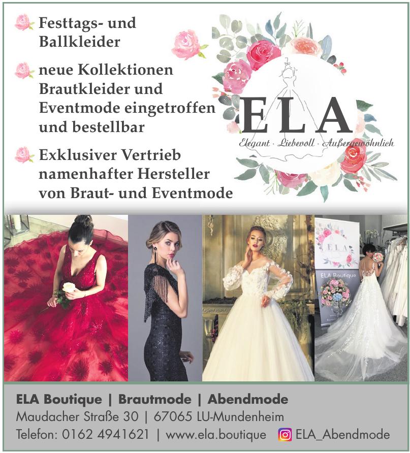 ELA Boutique / Brautmode / Abendmode