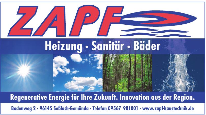 Zapf Heizung · Sanitär · Bäder