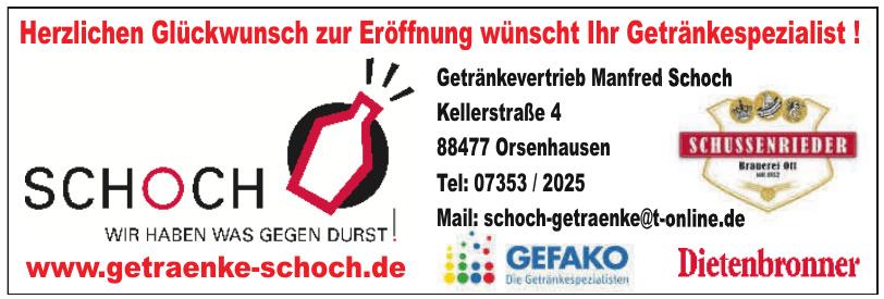 Getränkevertrieb Manfred Schoch