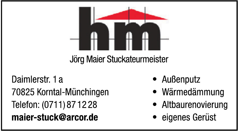 HM Jörg Maier Stuckateurmeister