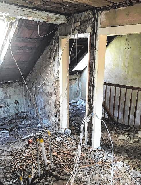 So sah es während der Sanierung im Obergeschoss aus.   Bild: Guido Kellner