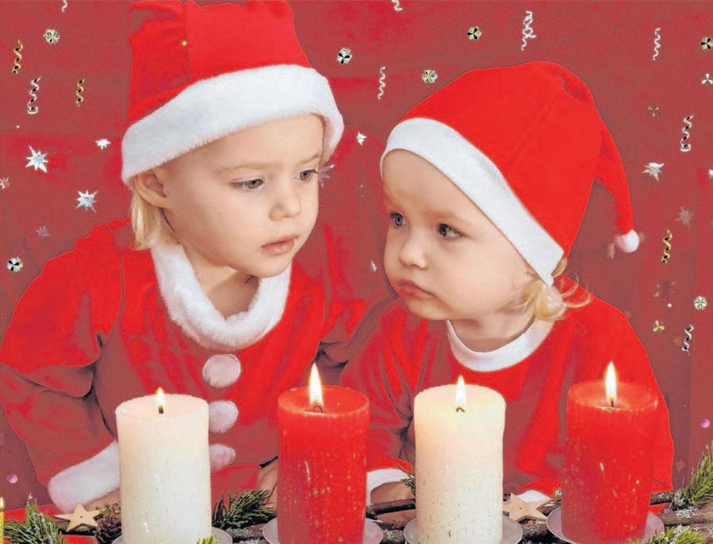Am Sonntag, 1. Dezember, ist der erste Advent. Diese süßen Nikoläuschen haben statt einer schon mal vier Kerzen angezündet. Fotos: Jürgen Emmenlauer