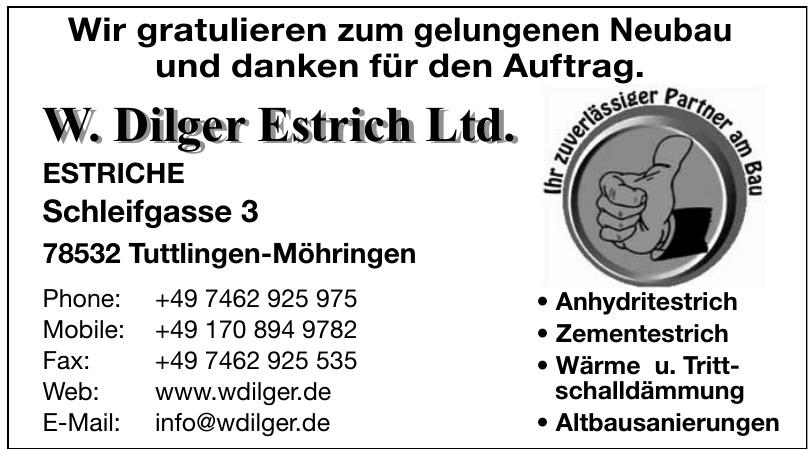 W. Dilger Estrich Ltd.