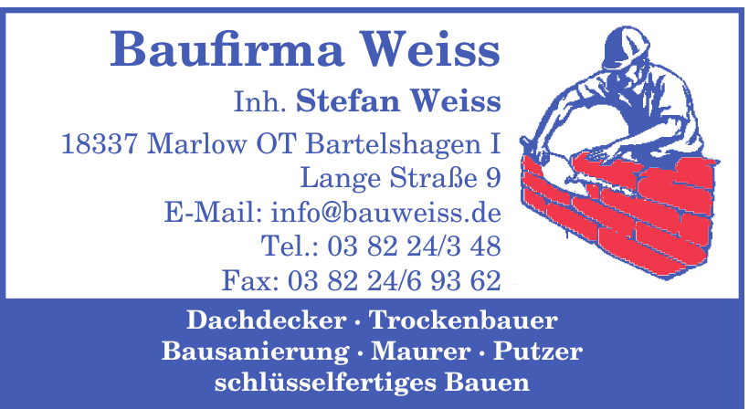 Baufirma Weiss