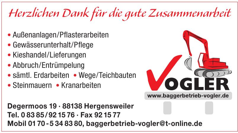 Baggerbetrieb Vogler
